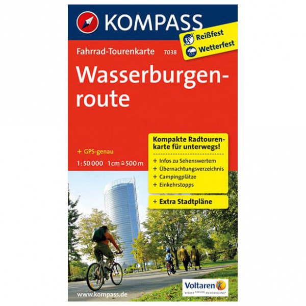 Kompass - Wasserburgenroute - Cycling map