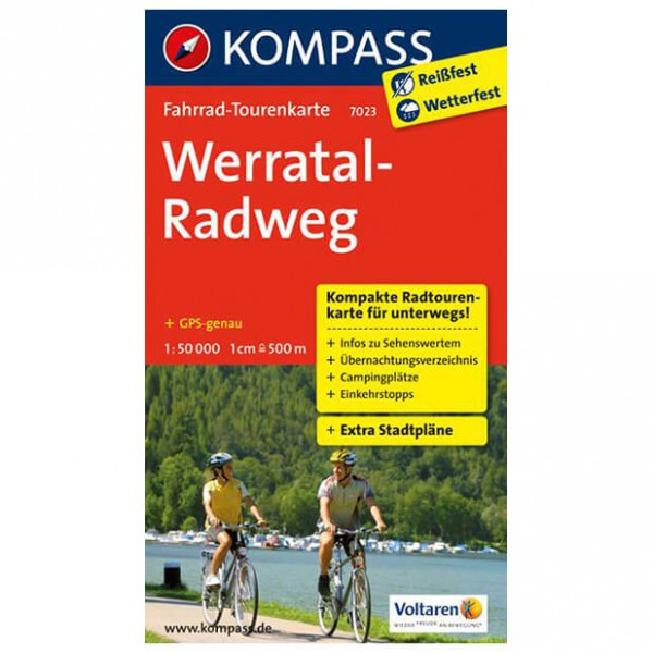 Kompass - Werratal-Radweg - Mapa de rutas en bicicleta