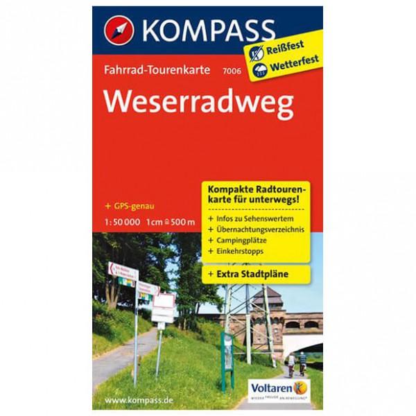 Kompass - Weserradweg - Cycling map