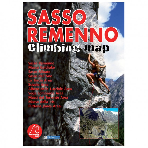Versante Sud - Sasso Remenno Climbing Map - Klimgids