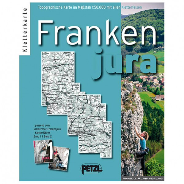Panico Alpinverlag - Frankenjura - Kletterkarte - Kletterführer