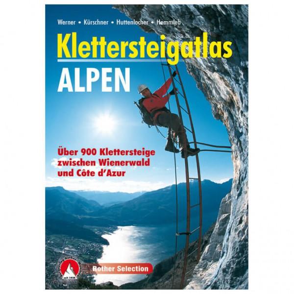 Bergverlag Rother - Klettersteigatlas Alpen - Klettersteiggidsen