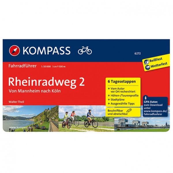 Kompass - Rheinradweg 2 Von Mannheim Nach Köln - Fietsgidsen