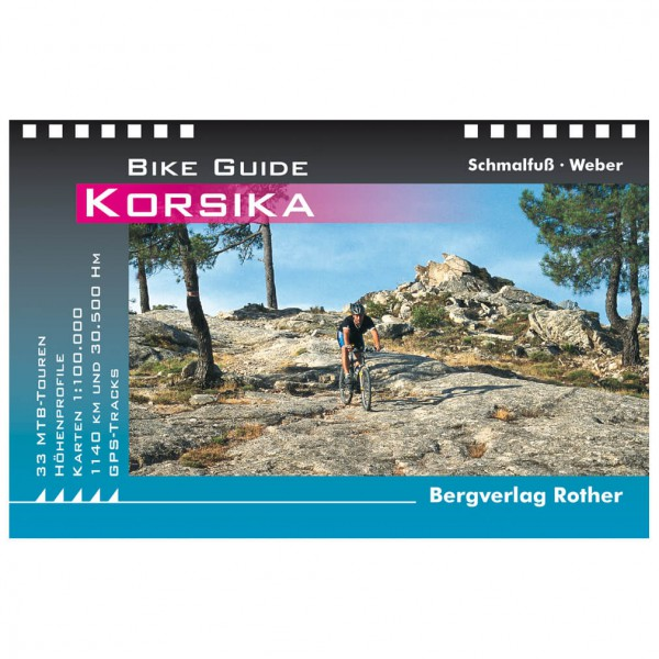 Bergverlag Rother Korsika 33 Mountainbike-Touren - Cykelguides køb online | Cycle maps