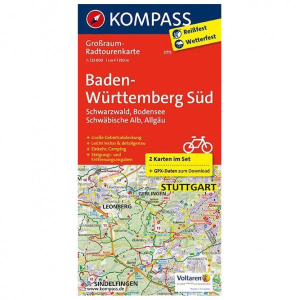 Kompass - Baden-Württemberg Süd, Schwarzwald, Bodensee - Cycling map
