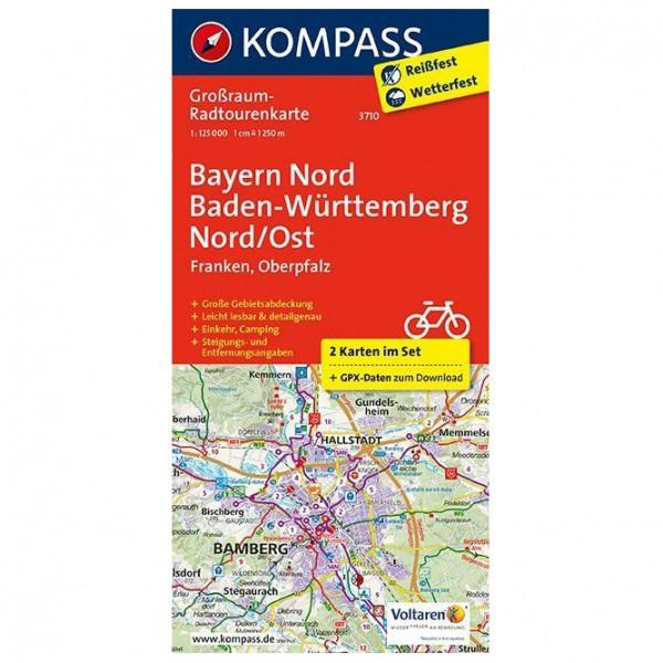 Kompass - Bayern Nord, Baden-Württemberg Nord/Ost - Cycling map