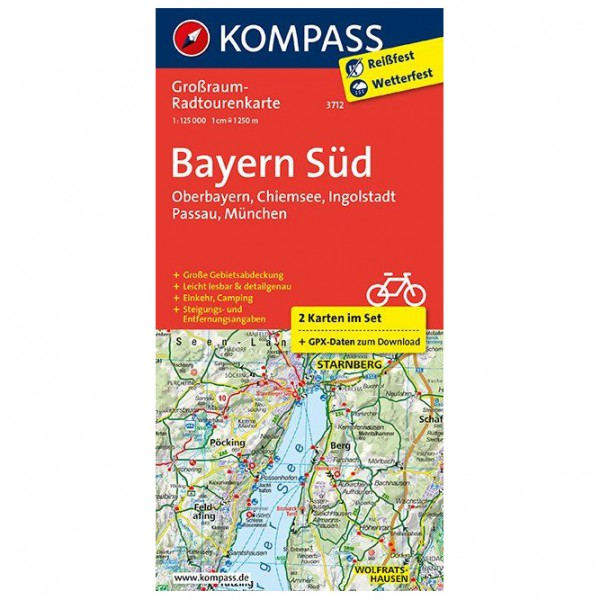 Kompass - Bayern Süd, Oberbayern, Chiemsee - Cykelkartor