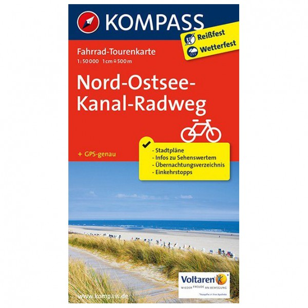 Kompass - Nord-Ostsee-Kanal-Radweg - Cycling map
