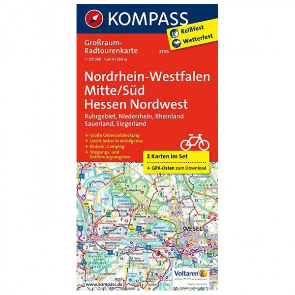 Kompass - Nordrhein-Westfalen Mitte/Süd - Hessen Nordwest - Cycling map