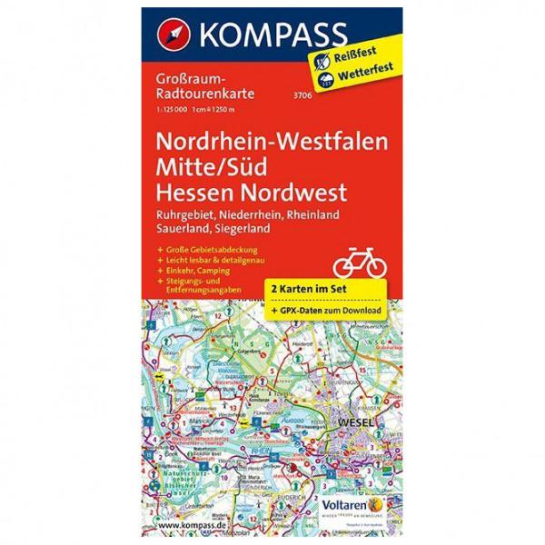 Kompass - Nordrhein-Westfalen Mitte/Süd - Hessen Nordwest - Velokarte