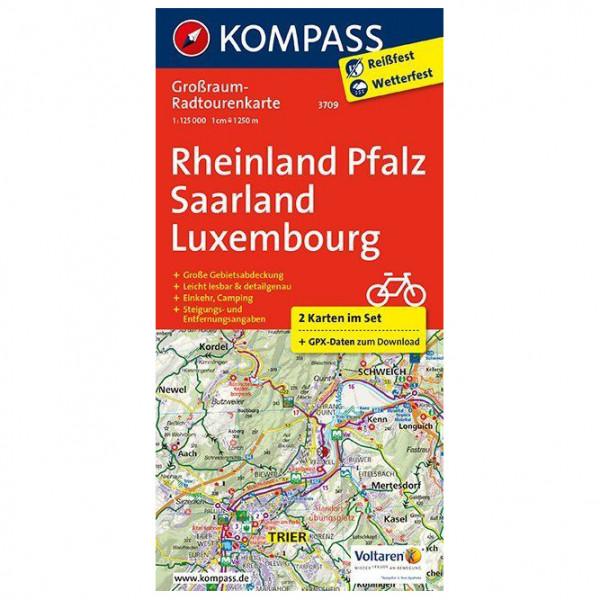 Kompass - Rheinland-Pfalz - Saarland - Luxembourg - Cykelkartor