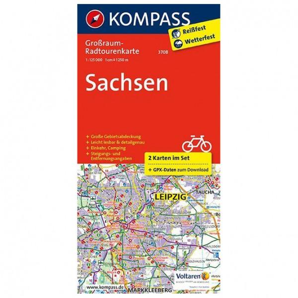 Kompass - Sachsen - Radkarte