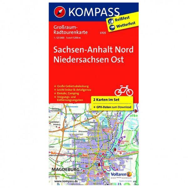 Kompass - Sachsen-Anhalt Nord - Niedersachsen Ost - Cykelkort
