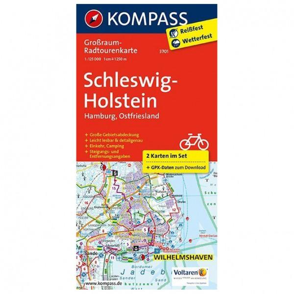 Kompass - Schleswig-Holstein, Hamburg, Ostfriesland - Cykelkort