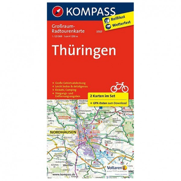 Kompass - Thüringen - Cykelkort