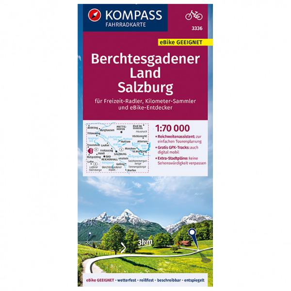 Kompass - Fahrradkarte Berchtesgadener Land, Salzburg - Sykkelkart