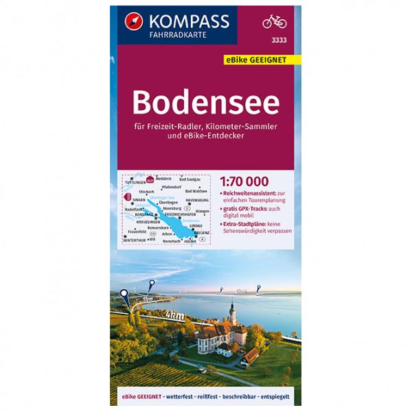Kompass - Fahrradkarte Bodensee 1:70.000, FK 3333 - Radkarte
