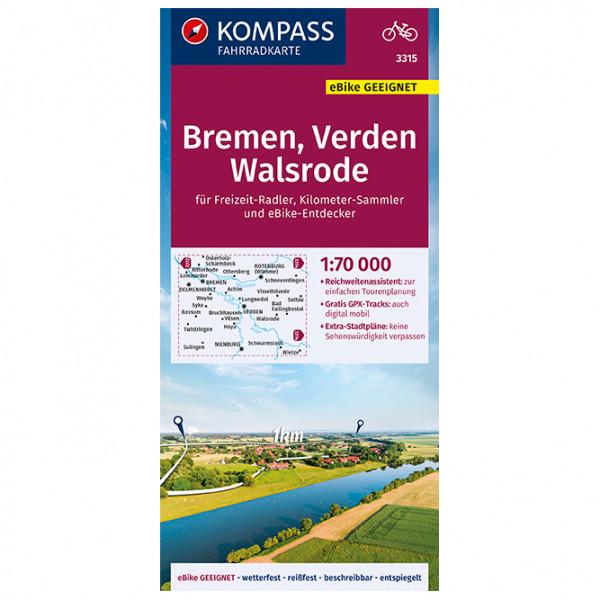 Kompass - Fahrradkarte Bremen, Verden, Walsrode - Fietskaarten