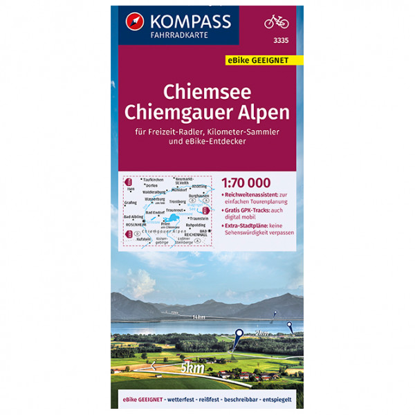 Kompass - Fahrradkarte Chiemsee, Chiemgauer Alpen - Fietskaarten