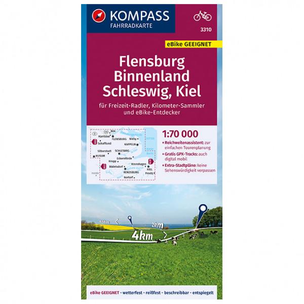Kompass - Fahrradkarte Flensburg Binnenland, Schleswig - Fietskaarten