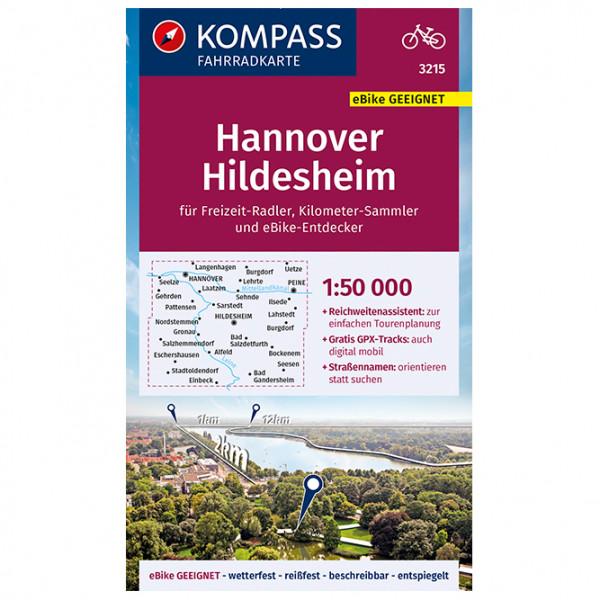 Fahrradkarte Hannover, Hildesheim - Cycling map