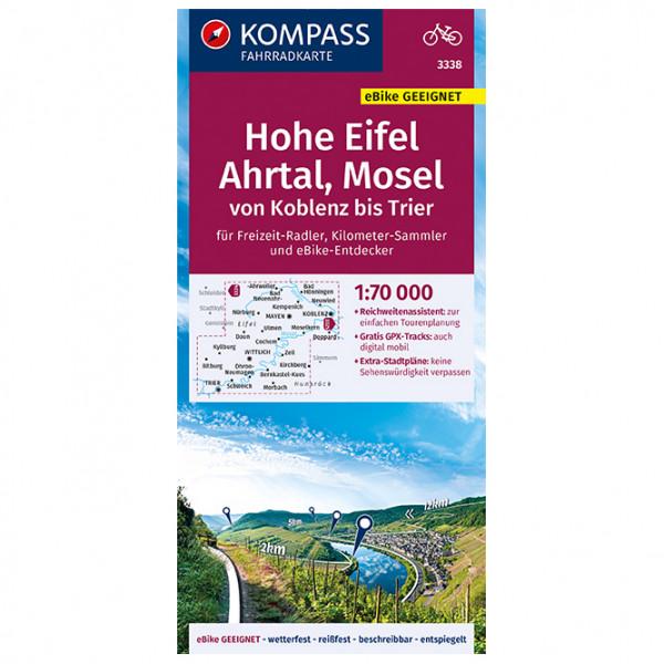 Kompass - Fahrradkarte Hohe Eifel, Ahrtal, Mosel - Sykkelkart