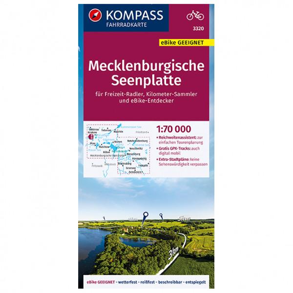 Kompass - Fahrradkarte Mecklenburgische Seenplatte - Cykelkartor