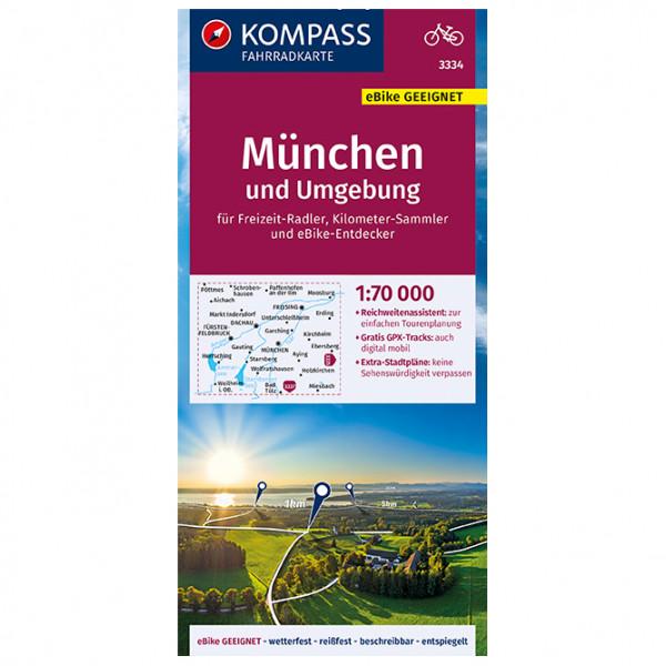 Kompass Fahrradkarte München und Umgebung - Cykelkort køb online | Cycle maps