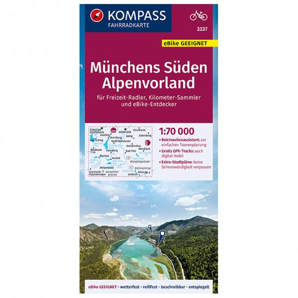 Kompass Fahrradkarte Münchens Süden, Alpenvorland - Cykelkort køb online | Cycle maps