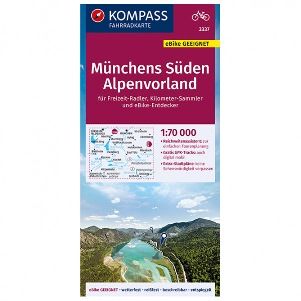 Kompass - Fahrradkarte Münchens Süden, Alpenvorland - Fietskaart