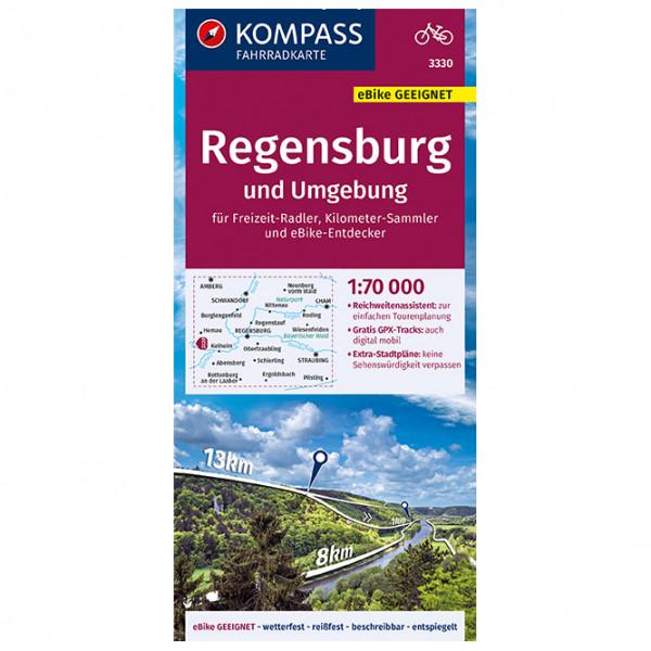 Kompass - Fahrradkarte Regensburg und Umgebung - Pyöräilykartat