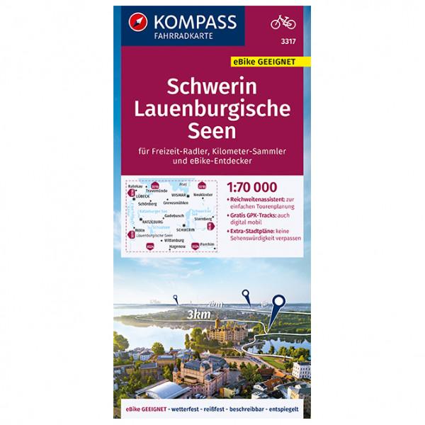 Kompass - Fahrradkarte Schwerin, Lauenburgische Seen - Pyöräilykartat