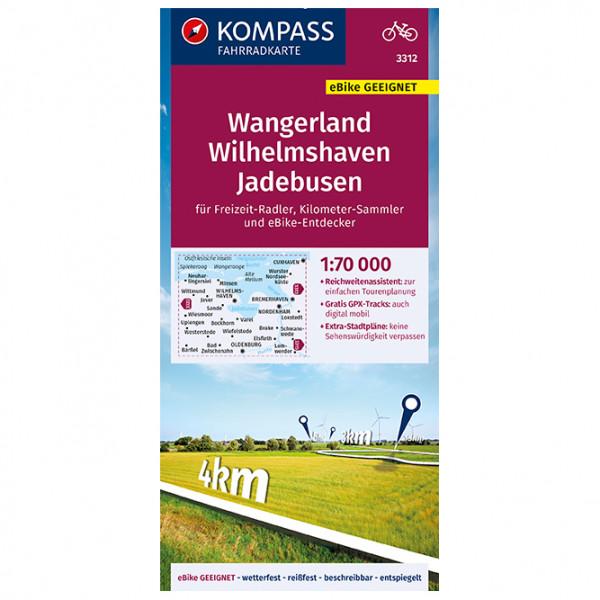 Kompass Fahrradkarte Wangerland, Wilhelmshaven-Jadebusen - Cykelkort køb online | Cycle maps