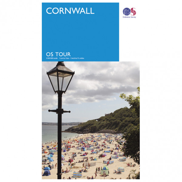Ordnance Survey Cornwall Tour - Cykelkort køb online | Cycle maps