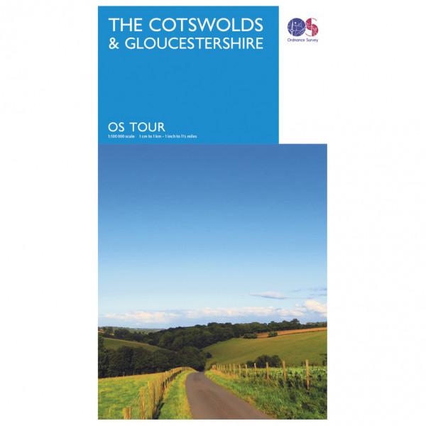 Ordnance Survey - Cotswolds / Gloucestershire Tour - Cycling map