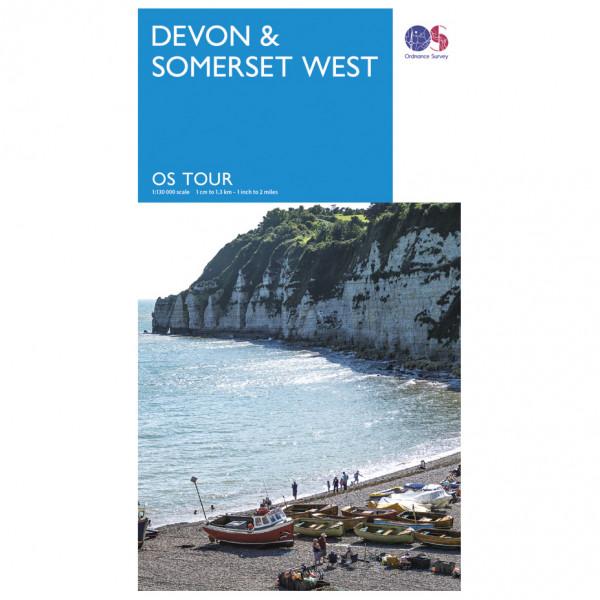 Devon / Somerset West Tour - Cycling map