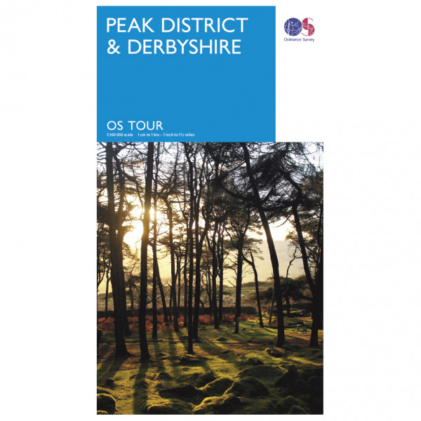 Ordnance Survey Peak District / Derbyshire Tour - Cykelkort køb online | Cycle maps