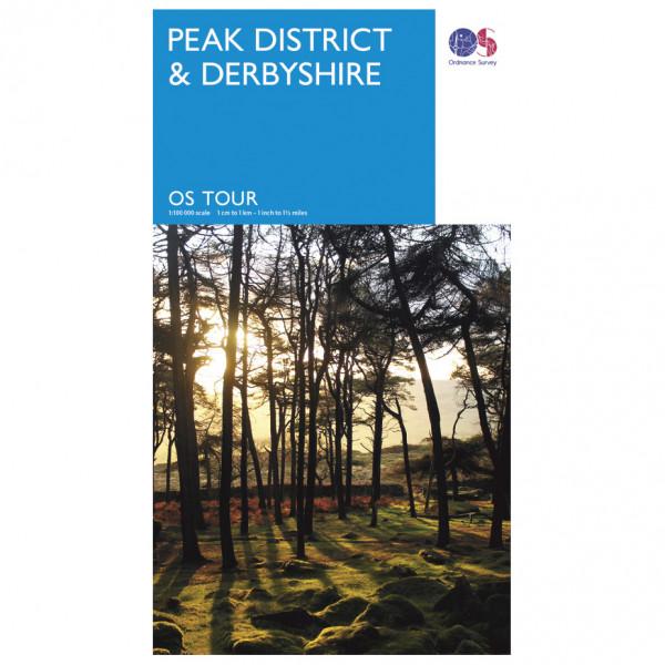 Ordnance Survey - Peak District / Derbyshire Tour - Fietskaart