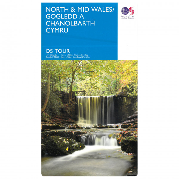Ordnance Survey Wales North / Wales Mid Tour - Cykelkort køb online | Cycle maps