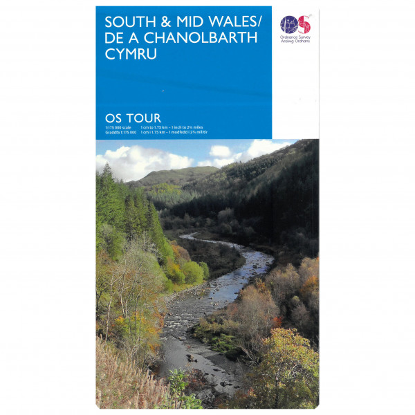 Ordnance Survey - Wales South / Wales Mid Tour - Pyöräilykartat