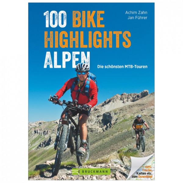 Bruckmann - 100 Bike-Highlights Alpen - Pyöräilyoppaat