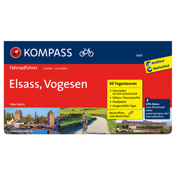Kompass - Fahrradführer Elsass, Vogesen - Fietsgids