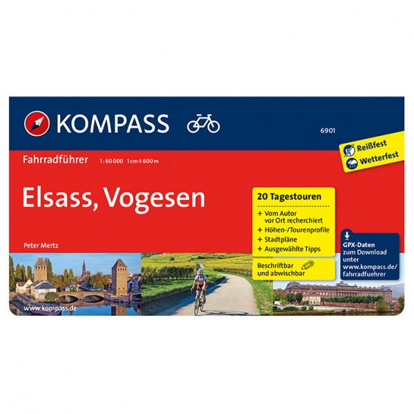 Kompass - Fahrradführer Elsass, Vogesen - Pyöräilyoppaat