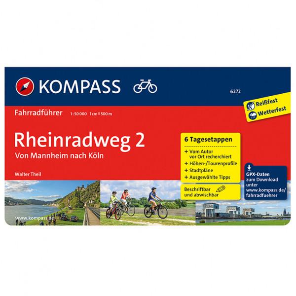 Kompass - Fahrradführer Rheinradweg 2 Mannheim Köln - Fietsgidsen