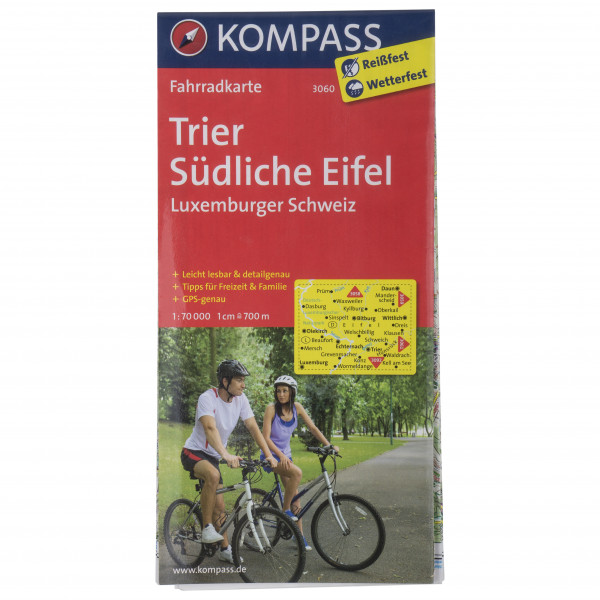 Kompass - Fahrradkarte Trier- Eifel-Luxemburger Schweiz - Radkarte