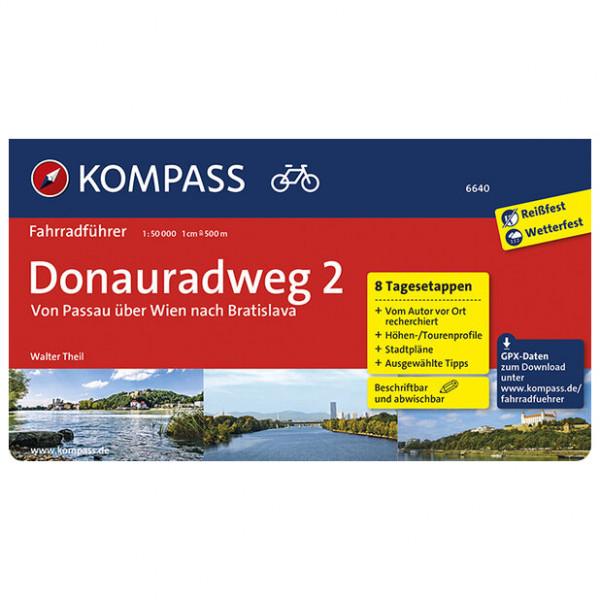 Kompass - Donauradweg 2, Passau über Wien nach Bratislava - Cykelguides