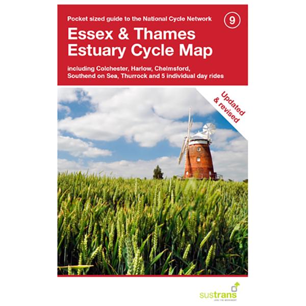 Sustrans - Essex And The Thames Estuary - Cykelkort