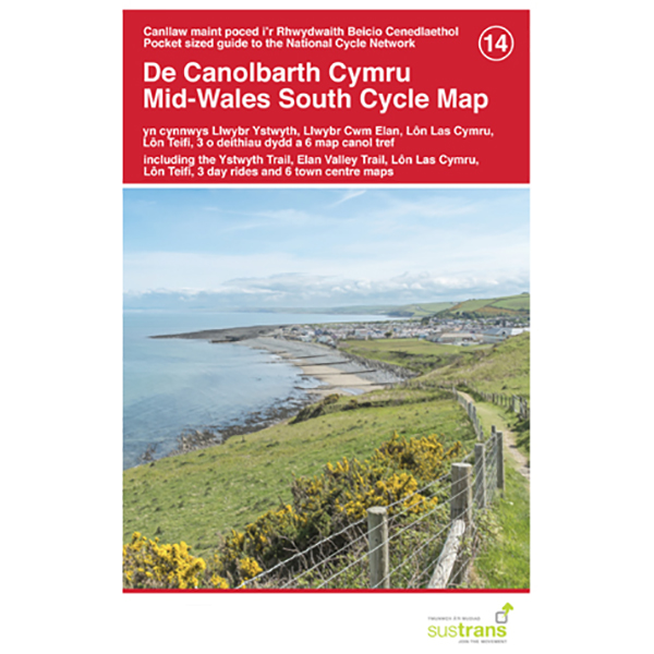 Sustrans - Mid-Wales South - Cycling map