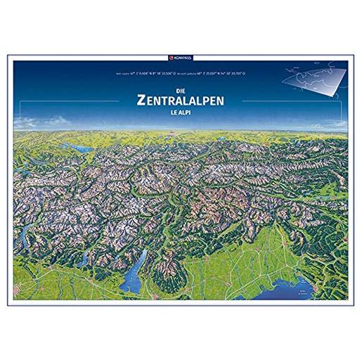 Panorama, Die Zentralalpen, Le Alpi, Poster