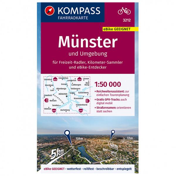 Kompass - Fahrradkarte Münster und Umgebung - Cycling map